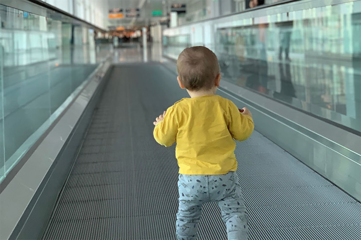 Traveling with baby. Flying.