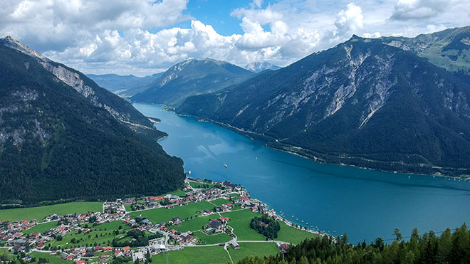 Pertisau and Achensee from above