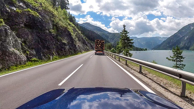 Driving along the Achensee lake