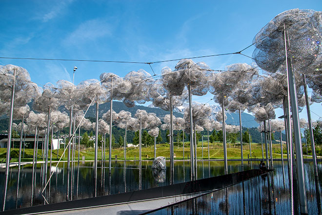 The garden of the Swarovski Crystal Worlds